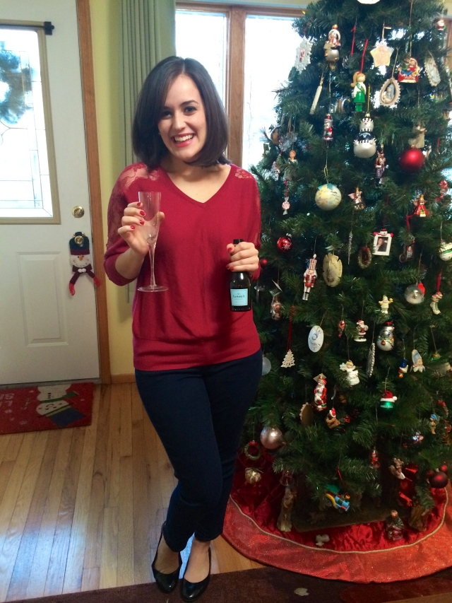 Champagne and tree